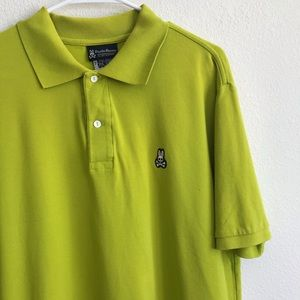 Psycho bunny green short sleeve polo shirt xl